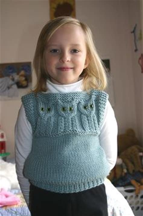 owl vest pattern here www ravelry com patterns library 1000 images about girls knitted sweater on pinterest