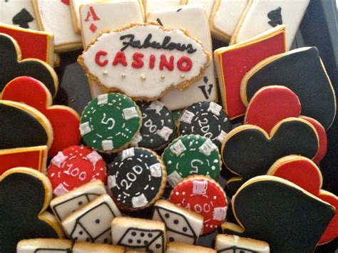 Casino Cookies Cards Cookies Poker chip cookies dice cookies