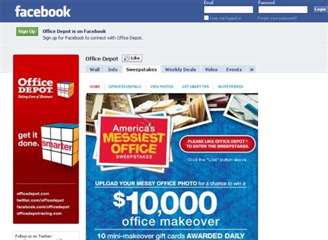 office depot launches facebook sweepstakes - Fb Sweepstakes