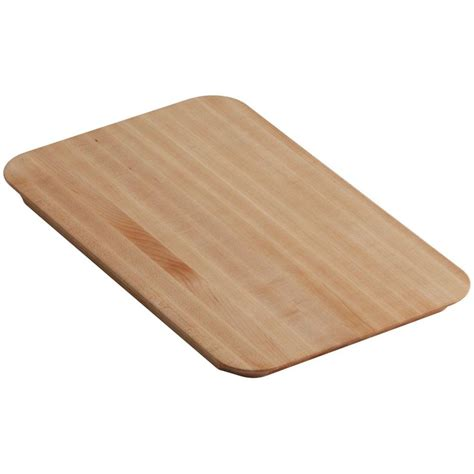 maple boards at lowes kohler riverby 10 5 in x 17 375 in cutting board in maple wood k 6246 na the home depot