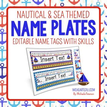 nautical themed names nautical and sea theme desk name plates editable name