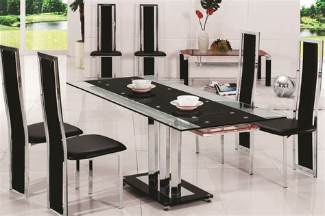 Dining Table Glass Top 6 Chairs glass dining table 10 chairs 187 gallery dining