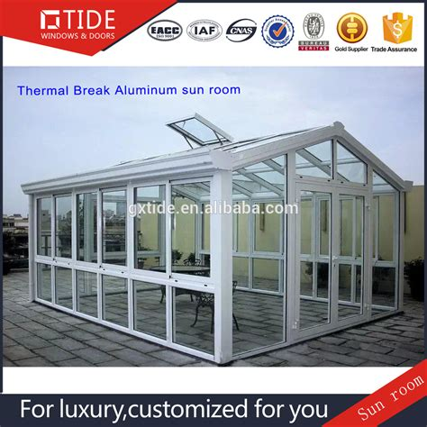 Sunroom Building Materials Tempered Glass Aluminum Sunroom For Building Materials