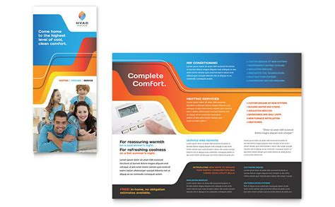 templates for designing brochures hvac brochure template design