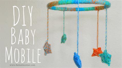 how to make baby mobiles for crib diy yarn stars baby mobile youtube
