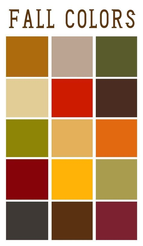 25  best ideas about Fall color palette on Pinterest