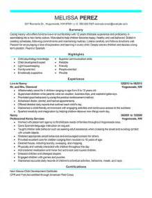 Sample Resume For Nanny Position Personal Amp Services Resume Examples Personal Amp Services