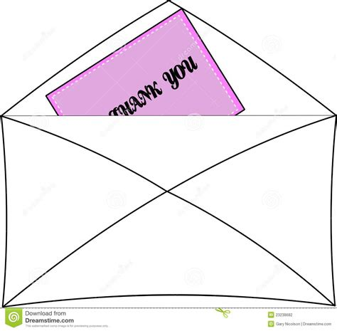 thank you letter after envelope thank you note in envelope stock photography image 23238682