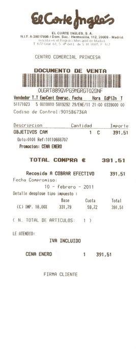 ejemplo de ticket de compra 191 es obligatorio entregar ticket o factura en los comercios