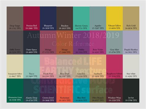 colors of winter autumn winter 2018 2019 trend forecasting is a trend color