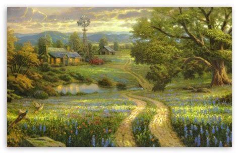 Living Landscape Definition Country Living By Kinkade 4k Hd Desktop Wallpaper