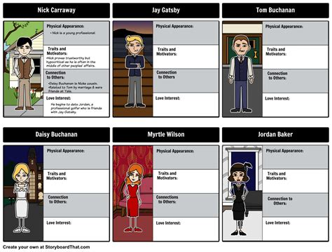 character analysis the great gatsby jordan the great gatsby character analysis storyboard