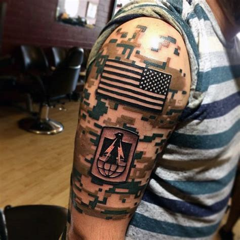 camo shoulder tattoo digital camo mens us flag army half sleeve tattoo tattoo