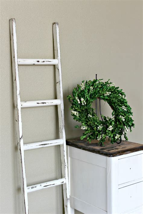 Blanket Rack Ladder by Ladder Vintage Rustic Blanket Ladder Distressed Pot Rack