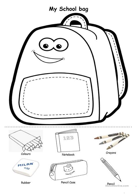 my school bag worksheet free esl printable worksheets