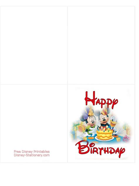 Printable Birthday Cards Disney | disney printable birthday cards www pixshark com