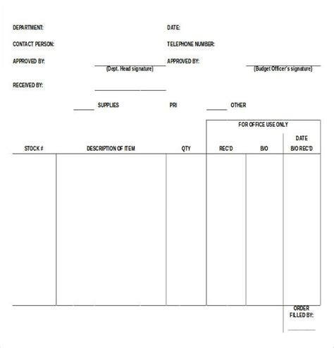 production order form template blank order form template 34 word excel pdf document