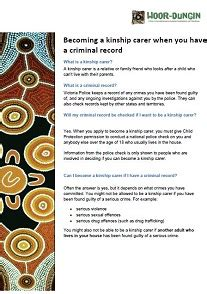 Becoming A With A Criminal Record Becoming A Kinship Carer When You A Criminal Record
