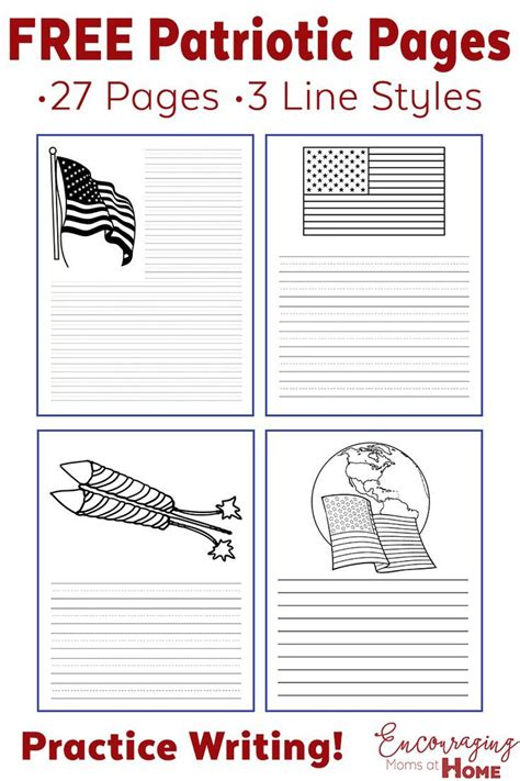 free printable patriotic lined paper 73 best images about patriotic on pinterest rhyming