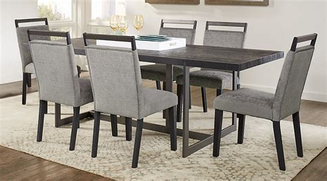 rectangle dining room sets amsterdam avenue black 5 pc rectangle dining room dining