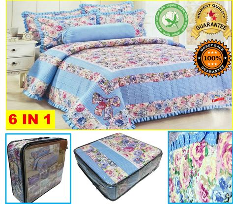 Patchwork Quilt Malaysia - cadar patchwork set 6 in 1 bed she end 8 1 2020 12 13 am