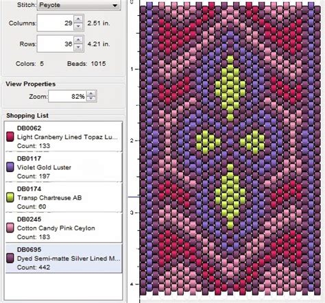 imaginesque beading peyote stitch pattern 16