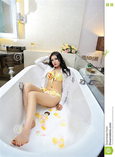 sexy in bathtub baby lying in the bathtub stock photo image of girl 75606778