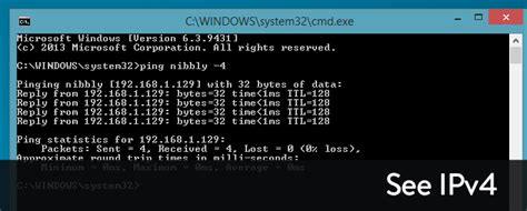 ping test cmd ping returns ipv6 address ping ipv4 in command prompt