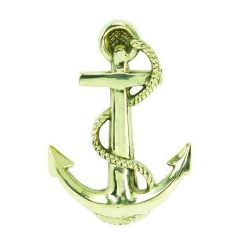 solid brass anchor door knocker 6 quot
