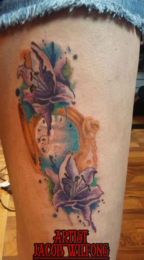 watercolor tattoo watch watercolor pocket by addictionsbodyart on
