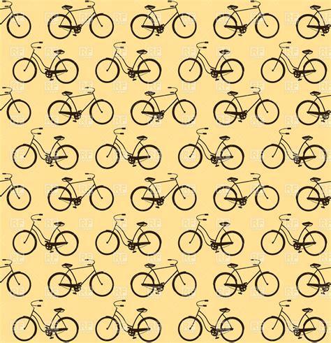 seamless retro pattern vector retro bicycle seamless pattern vector image 28399 rfclipart