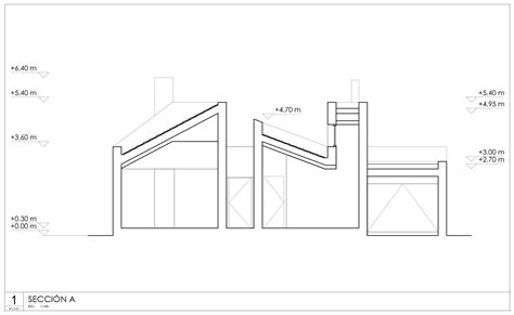cross sectional cut ooiio architecture s casa arm appears cut in half by a