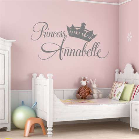 princess bedroom wall stickers personalised princess girls wall sticker decals 2
