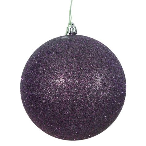 plum colored christmas balls vickerman 446034 purple colored tree ornament