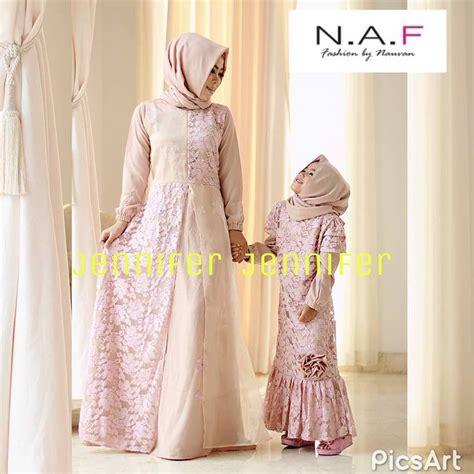 Baju Gamis Brokat Coksu Hitam jual baju muslim brokat cantik by naf