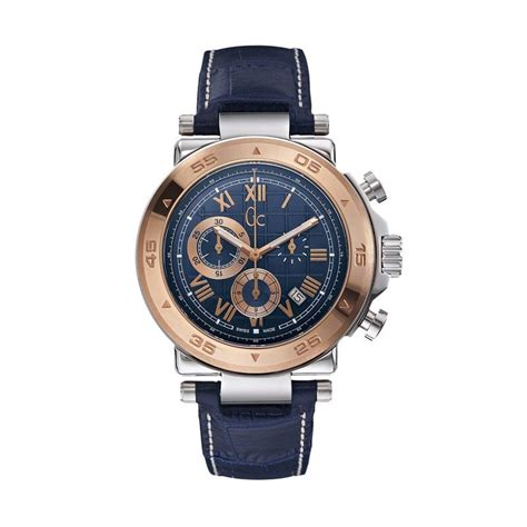 jual guess collection leather jam tangan pria gc x90015g7s biru rosegold harga