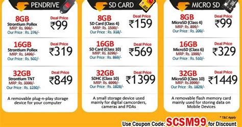 memory card price free stuff 4 india get pen drives and memory cards at