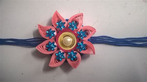 quilling rakhi tutorial how to make quilling rakhi at home my crafts and diy