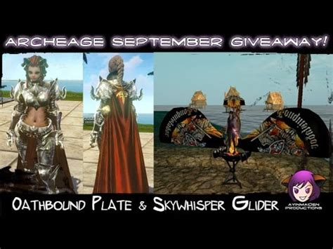 Archeage Giveaway - archeage archeage september giveaway youtube