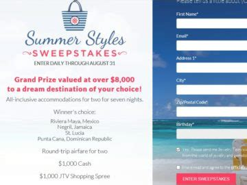 Jtv Com Sweepstakes - jtv s summer styles sweepstakes