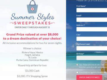 Jtv Sweepstakes - jtv s summer styles sweepstakes