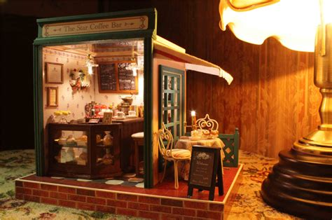 diy make at home dreadlock shoo bar dollhouse miniature diy kit z 005 star coffee bar w