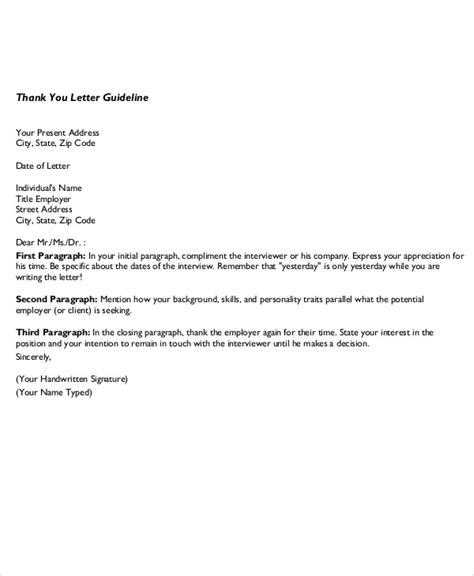 Business Letter Format Notes Sle Business Thank You Letter Sle Contract Business Thank You Note Word Doc Business