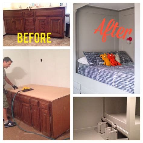 bunk beds with dresser built in hometalk diy turn an old bathroom vanity into a built