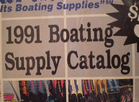boating supply magazine 1991 e b marine supplies boating supply catalog excellent