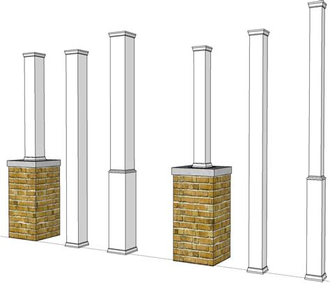 Patio Column Wraps by Pvc Porch Post Wraps Exterior Column Pole Covers
