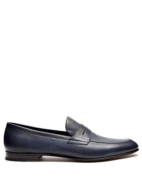 fratelli rossetti loafers fratelli rossetti montana leather loafers in blue for