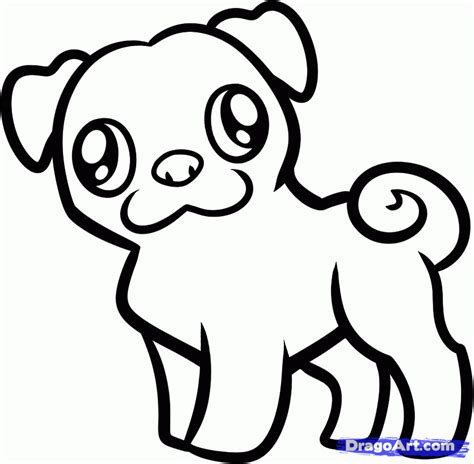step by step how to draw a pug how to draw a pug for step by step animals for for free