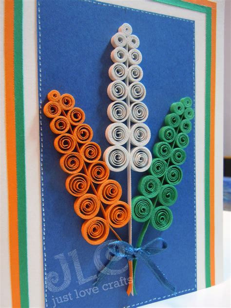Handmade Independence Day Cards - 50 ideas for india republic day or independence day