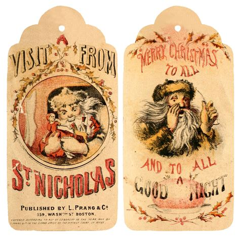 6 best images of vintage christmas printable gift tags